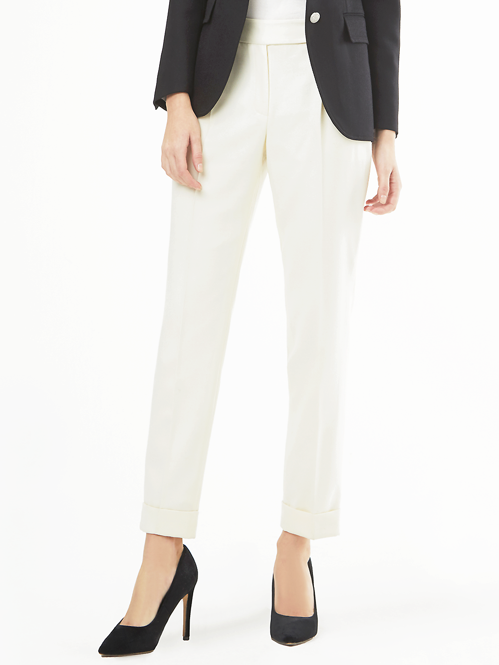 Finmeryn Ivory Straight Pants
