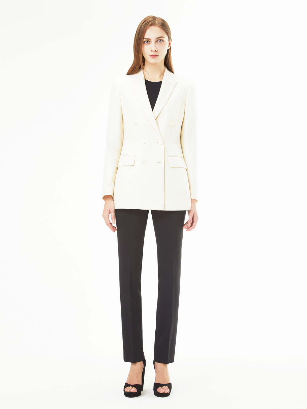 Holland&Sherry Linen Double Jacket (아이보리)